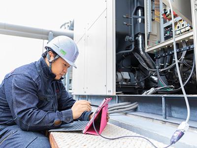 定期点検サービスの適用例 ガスヒートポンプエアコンの定期点検の画像